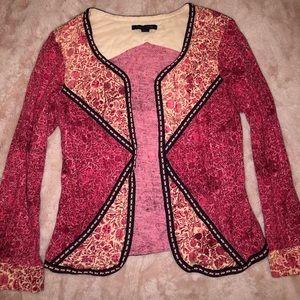 Pink midsleeve open jacket